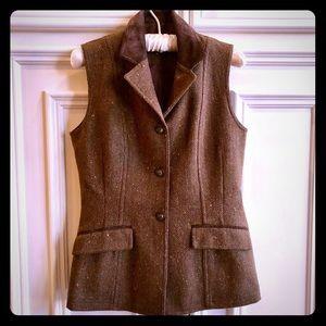 Harold's Tweed & Suede Leather Vest LIKE NEW Sz. 4